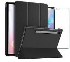 For Samsung Galaxy Tab S6 Smart Case Cover & Glass Screen Protector (T860 T865)