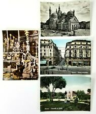 Padova Italy RPPC Lot of 4 Postcards Unposted B & W and Colorized 5.5 x 4 Inches