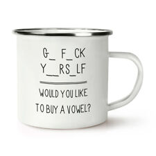 Go Fck Yourself Retro Enamel Mug Cup - Rude Funny Quote