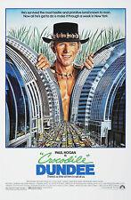 CROCODILE DUNDEE (1986) ORIGINAL MOVIE POSTER  -  ROLLED  -  DAN GOUZEE ARTWORK