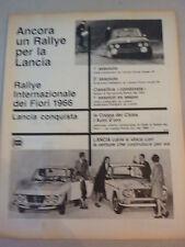 ADVERTISING PUBBLICITA'  LANCIA conquista il Rallye dei fiori   - 1966