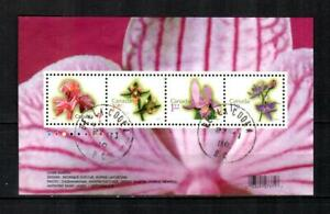 CANADA Scott's 2356 ( S/S ) Orchids F/VF Used ( 2010 ) #4
