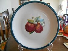 "Apple Country Dinner Plate (s) 10"" China Pearl Casuals Stoneware Red Green Brown"
