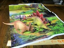 Classic Triceratops and Stegosaurus dinosaur models with high Rez playmat