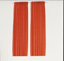 IKEA Gardinenpaar Vorhänge Rosalill rot / weiß 145 X 300
