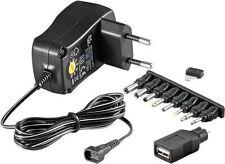 Fuente de alimentación universal 3V 12V 1.8m + 1 USB y 8 DC Adaptador Max. 3.6W y 0.3 un