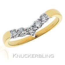 Diamond Wishbone Shaped Wedding Ring 0.45ct Brilliant Cut F VS set in 18ct Gold