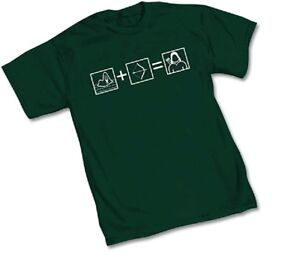 DC GREEN ARROW EQUATION - Green Adult Licensed T-Shirt - S-2XL