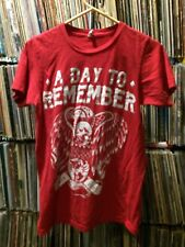A DAY TO REMEMBER T Shirt Skull & Snake ADTR Red Adult Size Slim Fit SMALL