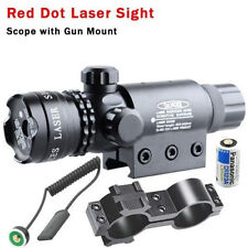 Tactical Red Dot Laser Rifle Sight Scope Adjustable w/ Mounts Switches New