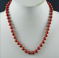 """8mm Red South Sea Shell Pearl Necklace 18"""" AAA+"""