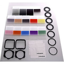 Complete Square Filter Kit Compatible w/ Cokin P Series, Filters,Ring,Holders..