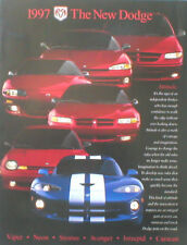 1997 DODGE Brochure/CATALOGO: VIPER , INTREPIDO, caravan, AVENGER, Stratus, Neon