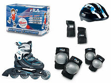 Fila X-One Combo 3 Set Boy blb/bl Inline Skates mit Schutz Gr. L 35-38 - Sale-