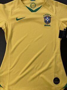 Women's Nike Yellow Brazil Women's National Team 2019 Home Jersey size S NWT