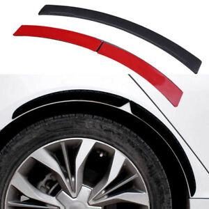 2x Carbon Fiber Side Fender Arch Trim Sticker Protector Car Wheel Eyebrow Strips