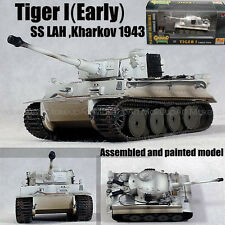 Easy model WWII German Tiger I SS LAH Kharkov 1943 winter tank 1/72 no diecast