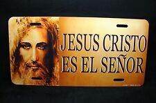 JESUS CHRIST METAL NOVELTY  LICENSE PLATE TAG SPANISH JESUS CRISTO ES EL SENOR