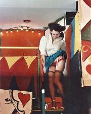 Org Amateur Semi Nude Large (8 x 10) Photo- Funhouse Fun- Skirt- Stockings- #6