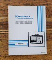 Vintage Motorola S1053C AC Voltmeter Owners Manual Operator Technical Specs ☆USA