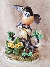"Andrea by Sadek Robin Porcelain Statue Figurine #8253 Mint 10"" Made in Japan"