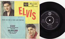 "ELVIS PRESLEY - STUCK ON YOU Ultrarare 1960 Aussie 7"" P/S Single Release!"