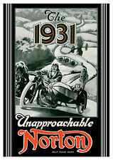 1931 Norton Motorcycles poster
