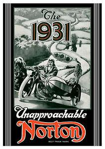 1931 Norton Motorcycles poster
