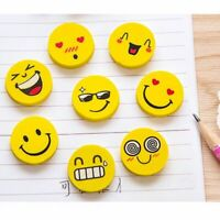 Children School Supplies Novelty Rubber Stationery Funny Emoji Pencil Eraser