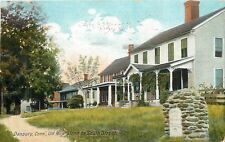 Danbury Connecticut~Old Mile-Stone on South Street~Houses~Foot Path~1908 PC