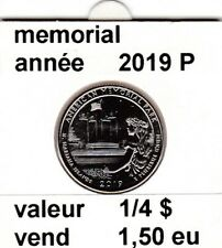 pieces de 1/4 $ memorial  2019 P