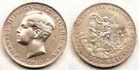 Portugal-Emanuel II. 500 Reis. 1910. EBC-/XF-. Plata 12,5 g. Bonita
