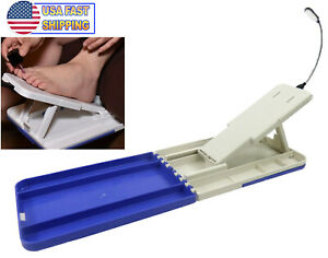 Pedicure Assistant Foot Care Stand Platform Tray - LED Light Stedi Portable DIY