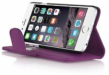 I PHONE 5 5s - LEATHER WALLET FLIP CASE IN VARIOUS COLORS