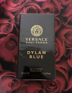 VERSACE POUR HOMME DYLAN BLUE * Versace 1.7 oz / 50 ml EDT Men Cologne Spray