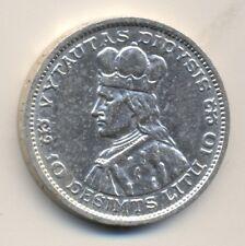 LITHUANIA 10 litu - silver, 1936, UNC