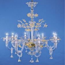 Lampadario in vetro di Murano Tronchetto 8 luci cristallo oro