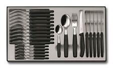 VICTORINOX Tafelbesteck Besteck 24-teilig Besteckkasten Messer schwarz 6.7233.24
