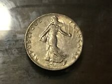 silver toned  coin World War One soldier coin France 1918
