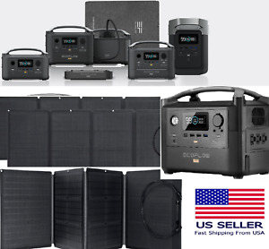 ⚡EF ECOFLOW RIVER Pro Portable Power Station Backup Battery 110/160W Solar Panel