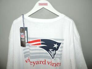 Vineyard Vines NFL New England Patriots Big Logo White Big Man T Shirt 3XL NWT