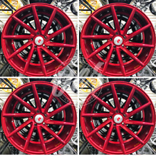 "NEW 20"" RED MACHINE FACE STYLE W/ RED CLEAR COAT WHEELS RIMS (SET 4) STAGGERED"
