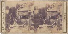 Cascade de Crécy SavoieStereo Braun Vintage Albumine ca 1860