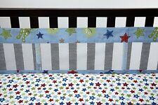 Little Bedding by NoJo Monster Babies Secure-Me Crib Liner