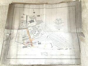 1824 Mappa Antica Di Piccolo Woodhouse Leeds Denison Sala Hanover Quadrato Raro