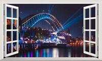 Australia Sydney Opera House Magic Window Wall Art Self Adhesive Poster V2*