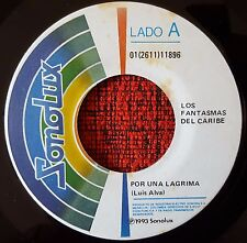 """LOS FANTASMAS DEL CARIBE *** Por Una Lagrima ** ORIGINAL Colombia 7"""" SINGLE 1993"""
