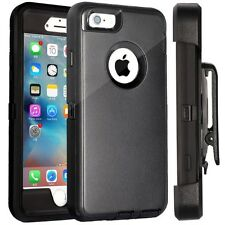 For Apple iPhone Case Cover Black - (Belt Clip fits Otterbox Defender series)