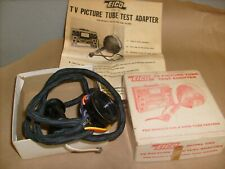 Vintage Eico Model Cra Tv Picture Tube Test Adapter With Instruction Manual 625