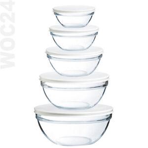 DECKEL Schale Schüssel Glas Glasschüssel Stapelschale Salatschüssel Salatschale